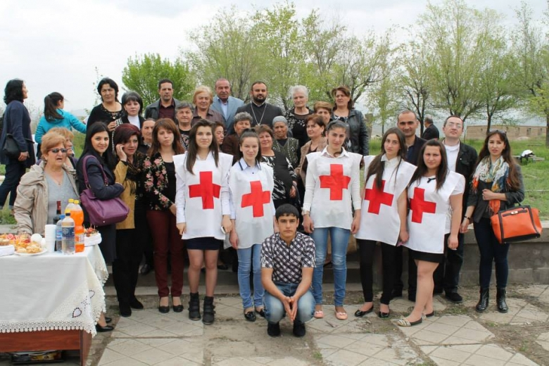 Tree planting in Vedi, Ararat Region, in memory of missing persons in Nagorno-Karabakh conflict