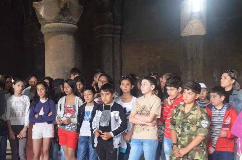 Syrian Armenian children visited historical - cultural places of Armenia