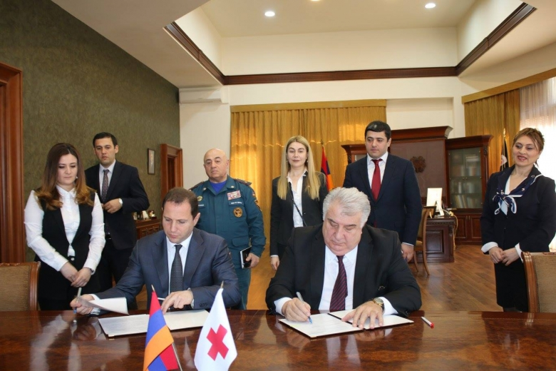 RA Ministry of Emergency Situations and Armenian Red Cross Society signed a protocol on the Extension of Memorandum of understanding