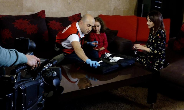 First Aid for kids: film shooting for Public TV