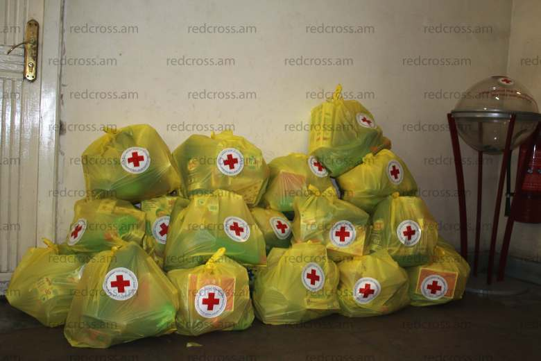Armenian Red Cross Society distributed humanitarian aid to the affected people in Armavir fire