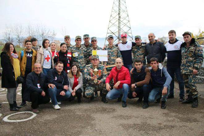 Voskevan team wins the 1st place of First Aid competition MES Civil Defense groups