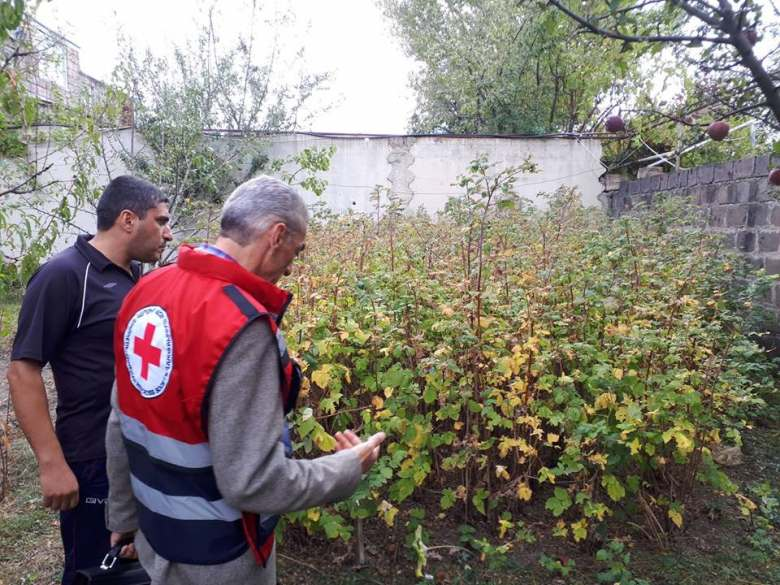 Armenian Red Cross Society provides humanitarian aid to the most affected by hailstorm families of Arapi, Sarnaghbyur and Nahapetavan communities in Shirak region