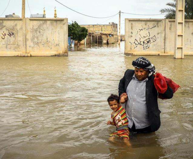 Humanitarian Aid for people affected by flood in Iran