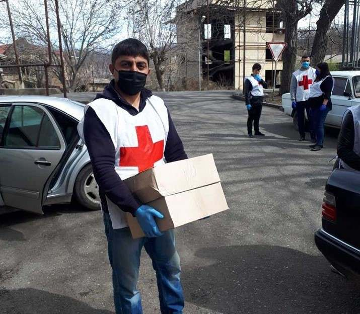 The Humanitarian Aid  provided with the help of ARCS volunteers