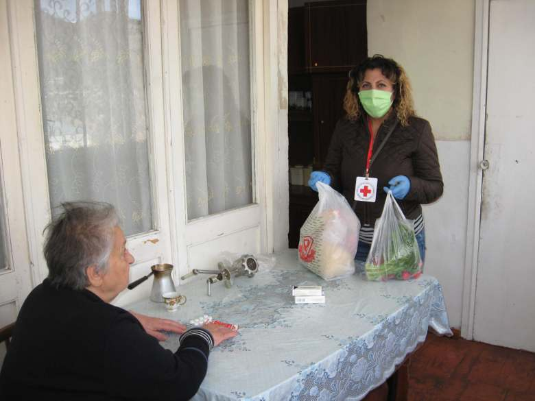 In the days of the Covid-19 pandemic, Home care service of the Armenian Red Cross Society is operating in the same mode