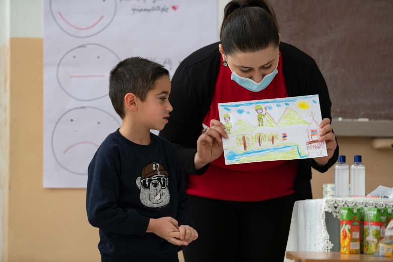 Providing safe, positive spaces for children affected by the Nagorno-Karabakh conflict