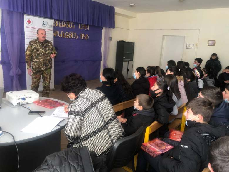 How to be protected from mines and unexploded ordnances: awareness raising among schoolchildren and teachers